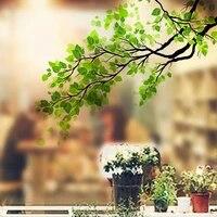 Beaux autocollants muraux decoratifs en verre pour fenetre  autocollant amovible en branche darbre