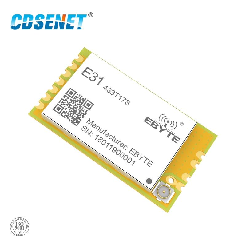 AX5043 433 MHz transmisor y receptor RF CDSENET E31-433T17S UART inalámbrico de RF de 433 MHz SMD módulo TCXO IPEX sello agujero