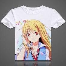 La fille de compagnie de Sakurasou T-Shirt Anime sakura sou no Pet na kanojo Shiina Mashiro T-Shirt à manches courtes mode hommes femmes t-shirts