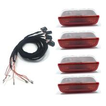 4 pces oem origem luz de advertência da porta interior lâmpada luzes + cabo fio para golf jetta mk5 mk6 passat b6 b7 cc tiguan 3ad 947 411