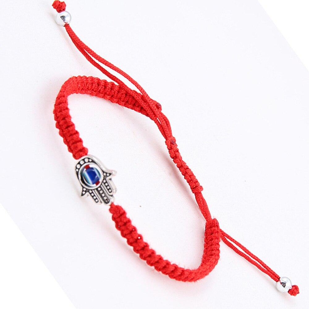 Suerte cordel rojo hilo pulseras HAMSA turco azul pulsera de Talismán las mujeres hecho a mano joyería de Amistad accesorios regalos