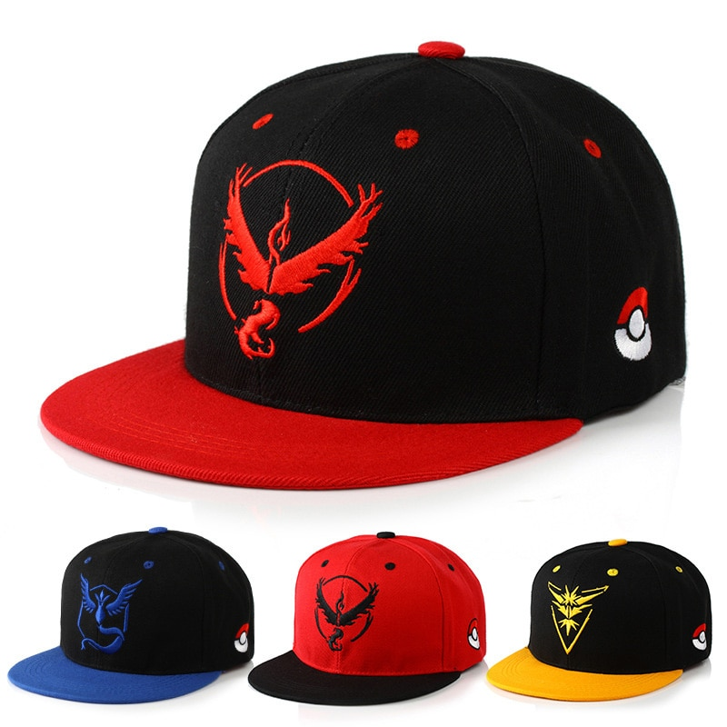Бейсболка в стиле хип-хоп Pokemon Go, Кепка с вышивкой в стиле «унисекс», «Мистик», «Instinct», «Snapback», «хип-хоп», «Mulisha», «Pokemon Game», CP0108
