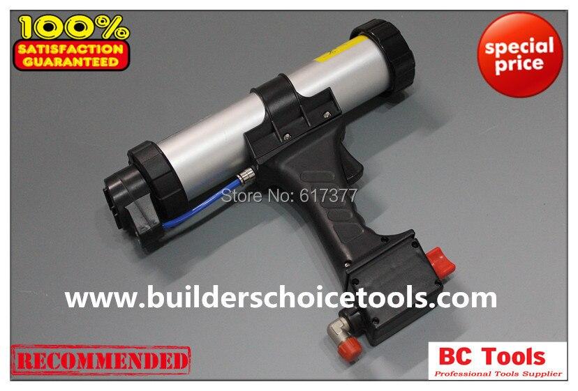 Free Shipping DIY&Professional Use 15 Inches for 600ml Sausage Pneumatic Caulking Gun Pneumatic Caulk Gun Dripless Type