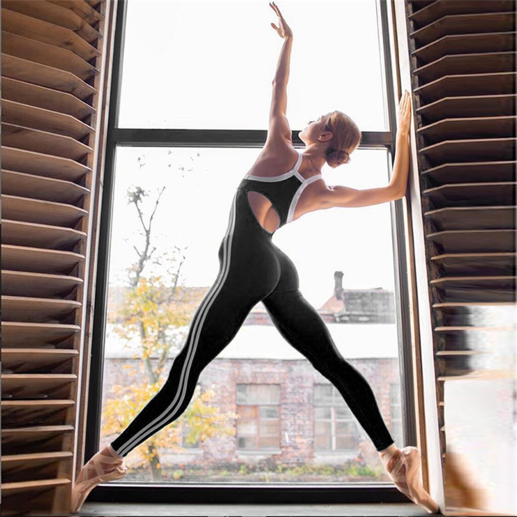 Women Slim Jumpsuits Sport Fitness Ladies Summer Skinny Rompers Long Pants Onesies Cotton Leggings Gym Overalls Jumpsuit Casual