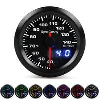 Dynoracing Dual Display 52MM 7 Colors Oil temp gauge 40-140 Celsius Oil temp meter with stepper motor