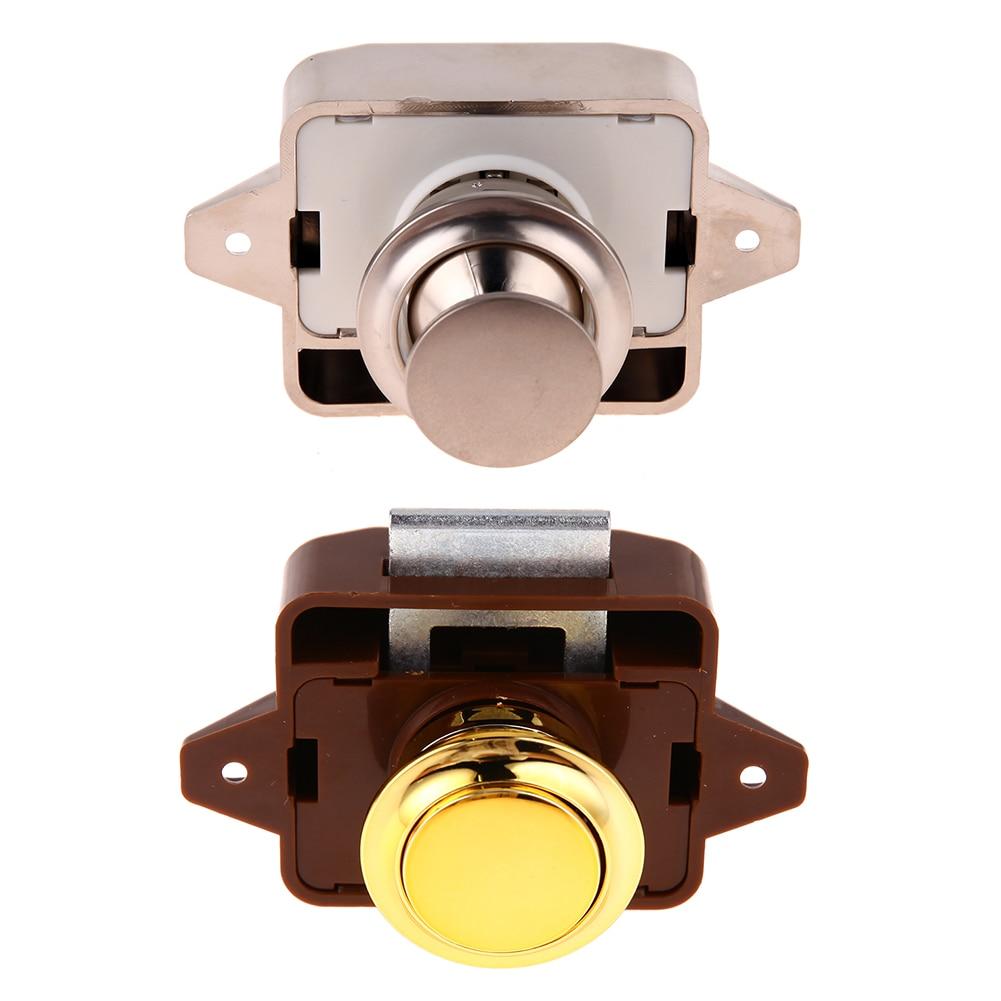 """Botón pulsador de bloqueo de aleación de Zinc de 26mm/1,02 """"Pomo de puerta de armario autocaravana armario equipamiento para mejorar el hogar suministros"""