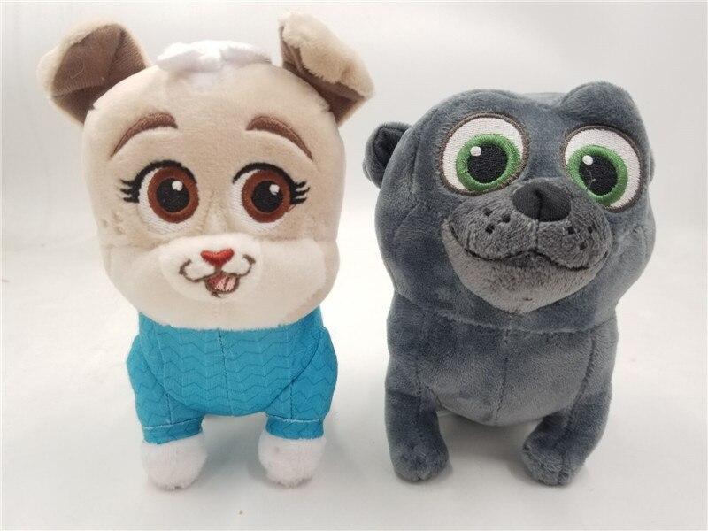 Auténtico Junior Bingo Pug cachorro perro amigos Keia Bingo de peluche de juguete muñeca 2 uds