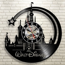 Horloge murale CD disque vinyle   Nouvelle montre murale moderne Design dessin animé, noire, décor de maison, horloge cadeau pour enfants, 2019