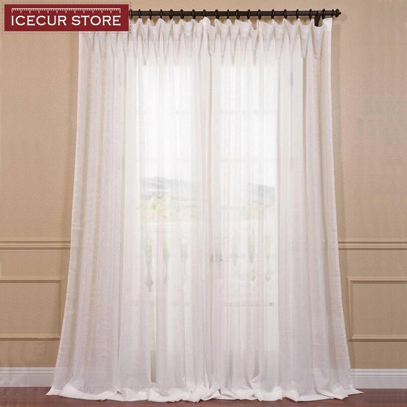 Modernas cortinas de tul para sala de estar, cortinas transparentes blancas para cortinas para dormitorio, cortinas de gasa de tacto suave
