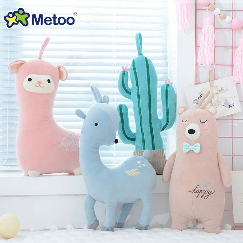 Lindo bebé de peluche de felpa juguetes de dibujos animados niños niñas oso suave ciervos muñecas niños pequeños Kawaii regalo niños PP algodón almohada