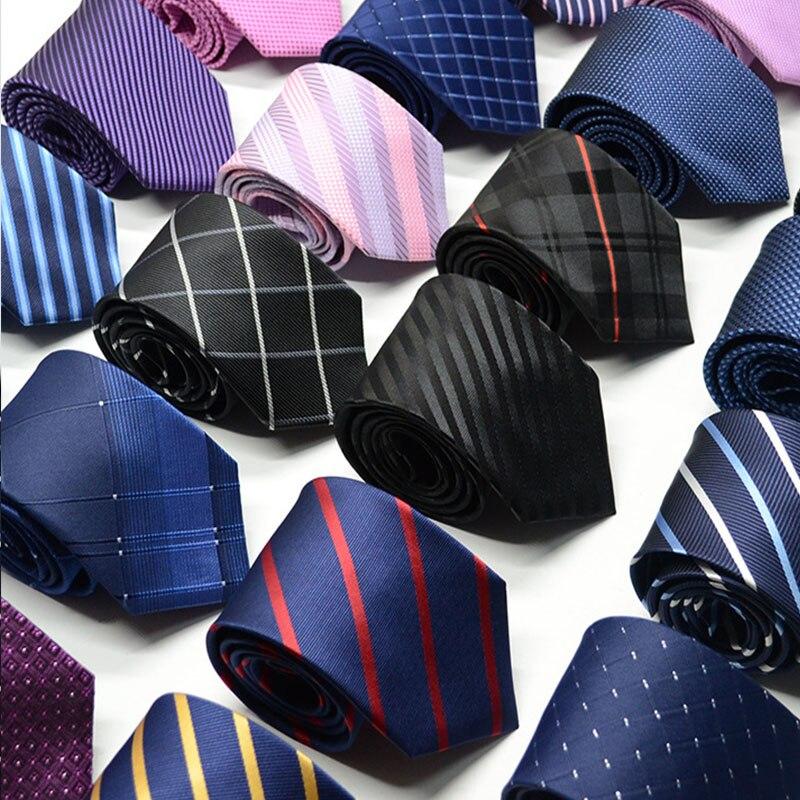 Corbatas de seda para hombre de 100 estilos con flores a rayas de 8cm, corbatas de Jacquard, accesorios de uso diario, corbata, regalo de fiesta de boda para hombre