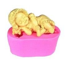Форма для спящей девочки, форма для льда, инструменты для приготовления пищи, силиконовая паста для помадки, декоративная полимерная глина, ...
