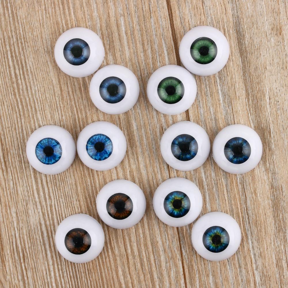 Реалистичные полукруглые очки с полыми глазами для глаз, 1 пара, 20/22/24 мм, кукла в маске, игрушки для изготовления животных