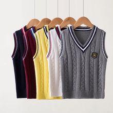 INS hot Children's sweater vest boys vest girls sweaters children's bottoming shirt baby vests spring and autumn school uniform