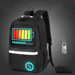 Senkey estilo novo unisex adolescente mochila para adolescentes luminosa bookbag mochila para escola saco de livro do estudante para meninos meninas
