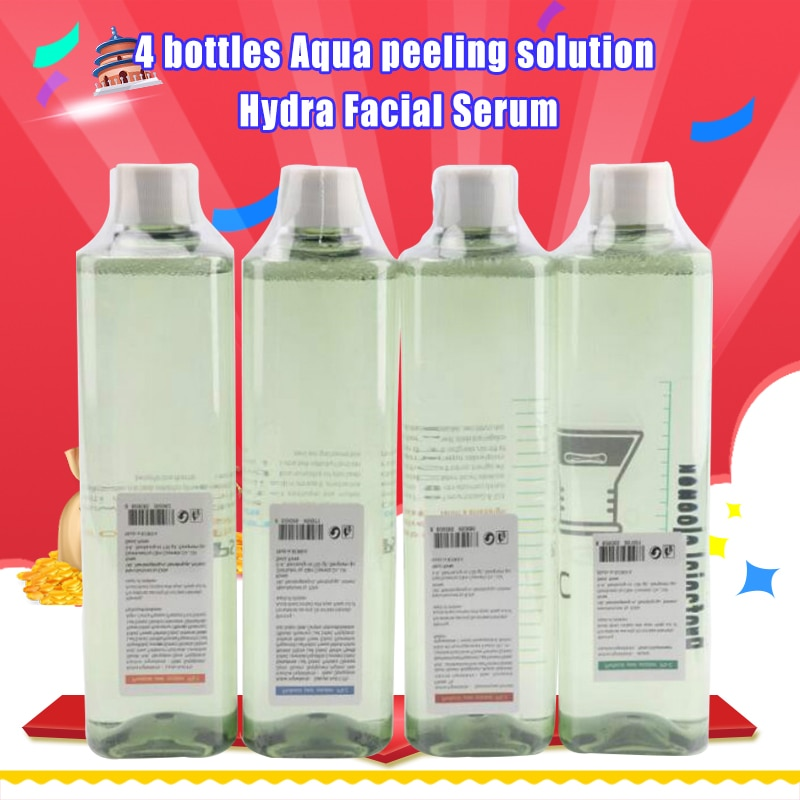 Mais novo!! 4 garrafas aqua peeling solução por garrafa aqua soro facial hydra soro facial para a pele normal