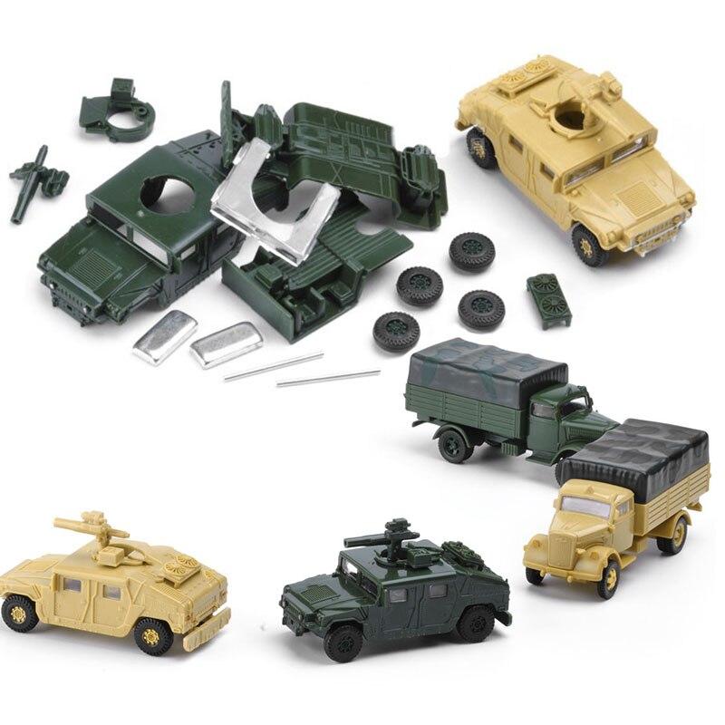 8 комплектов в сборке, пластиковые строительные наборы для США, 1/72, автомобильная Hummer Camion, полимерная модель, подарок для детей