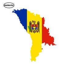 HotMeiNi autocollant voiture 3D moldavie Silhouette drapeau carte pays voiture style pare-chocs étanche fenêtres accessoires 13cm x 11cm