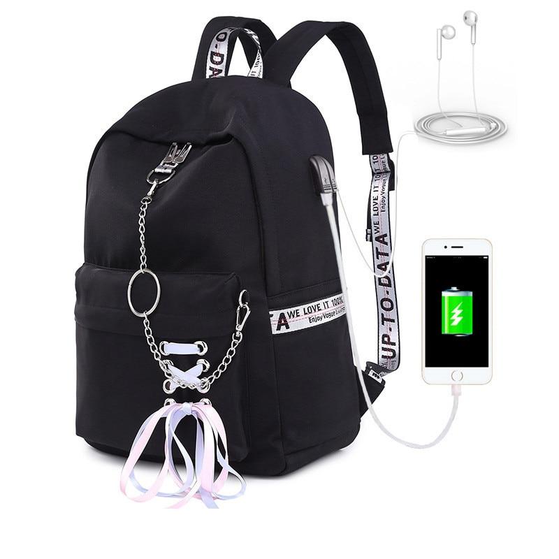 Waterproof Laptop Backpacks School Bags for Women Girls Large Capacity USB Charge School Backpack Teenager Travel bag Mochila