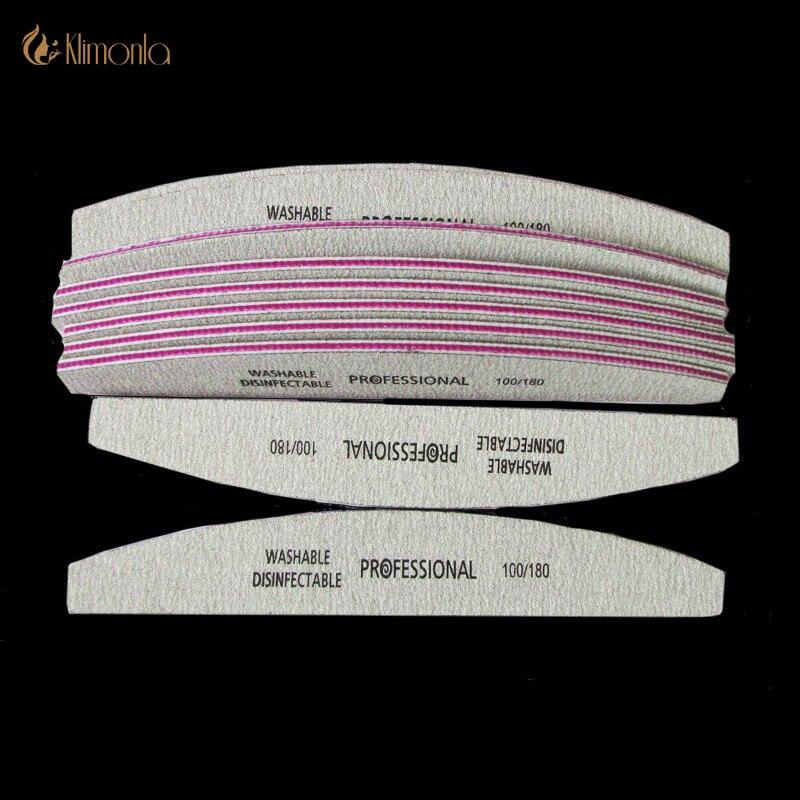 10 X Grey archivos de uñas UÑAS DE Durable pulido papel de lija de gravilla de uñas de manicura herramientas Disposalbe Cuticle Remover de nagelvijl