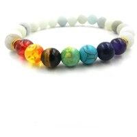 reiki muti color mens bracelets beads natural stone bracelet tigers eye stone for women prayer yoga bracelet stones