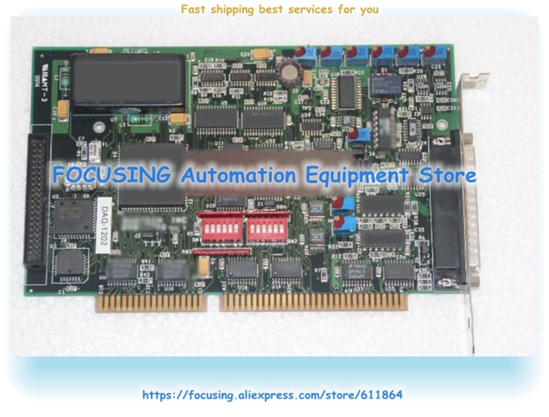 Cartão de captura DAQ-1202 rev d placa-mãe industrial do ônibus DAQ-1200 de isa