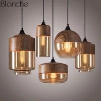modern pendant lamp retro loft glass hanging light for dining room kitchen home decor lighting industrial vintage iron fixtures