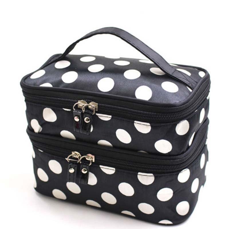 Nueva bolsa de maquillaje, neceser de viaje plegable, Maleta de Impermeable bolsa de cosméticos lápiz sin fin con estuche de brochas de maquillaje, bolsas de lavado S30