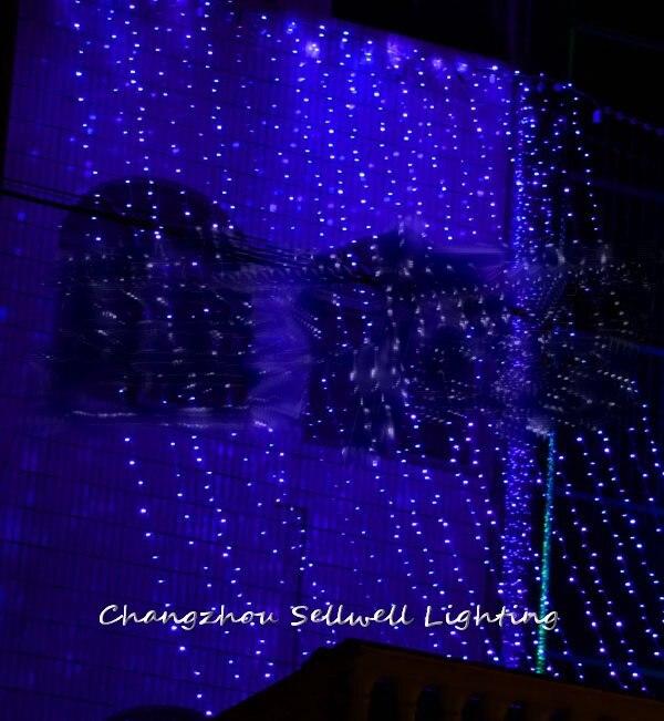 مصباح أزرق led H121 ، إضاءة زخرفية ، مثالي للمهرجان ، 5*4 م