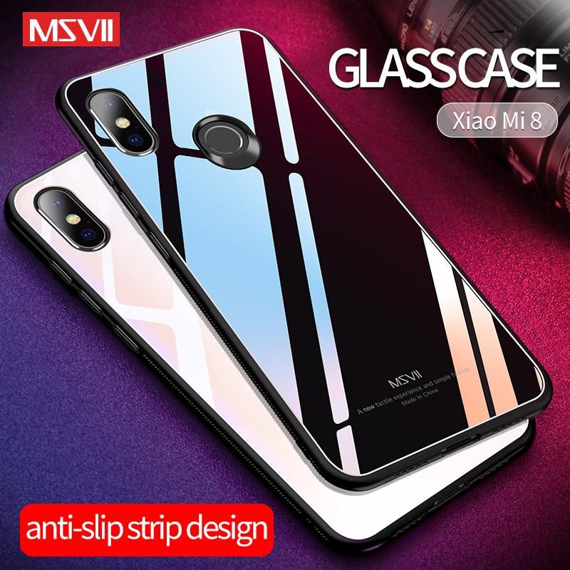MSVII Spiegel Glas Abdeckung Für Xiaomi Mi 9 9T Pro CC9 CC9E Fall Luxus Xiaomi Mi 8 Pro SE lite Fall Silikon Rahmen Xiaomi Mi 6 5 X