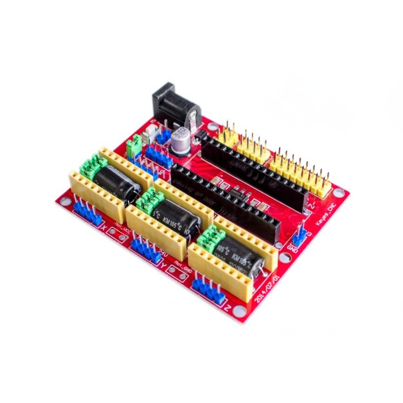 Гравировальный станок с ЧПУ Shield V3 V4, совместимый с Nano 3,0/A4988, модуль платы расширения для 3D-принтера, комплект для сборки