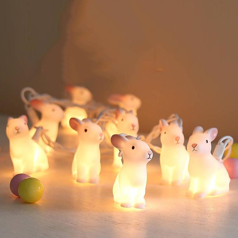 20Led Fairy 8cm Big Size Rabbit Battery Operated String Lights 5m LED Decor For Christmas Garland New Year gerlyanda 2018