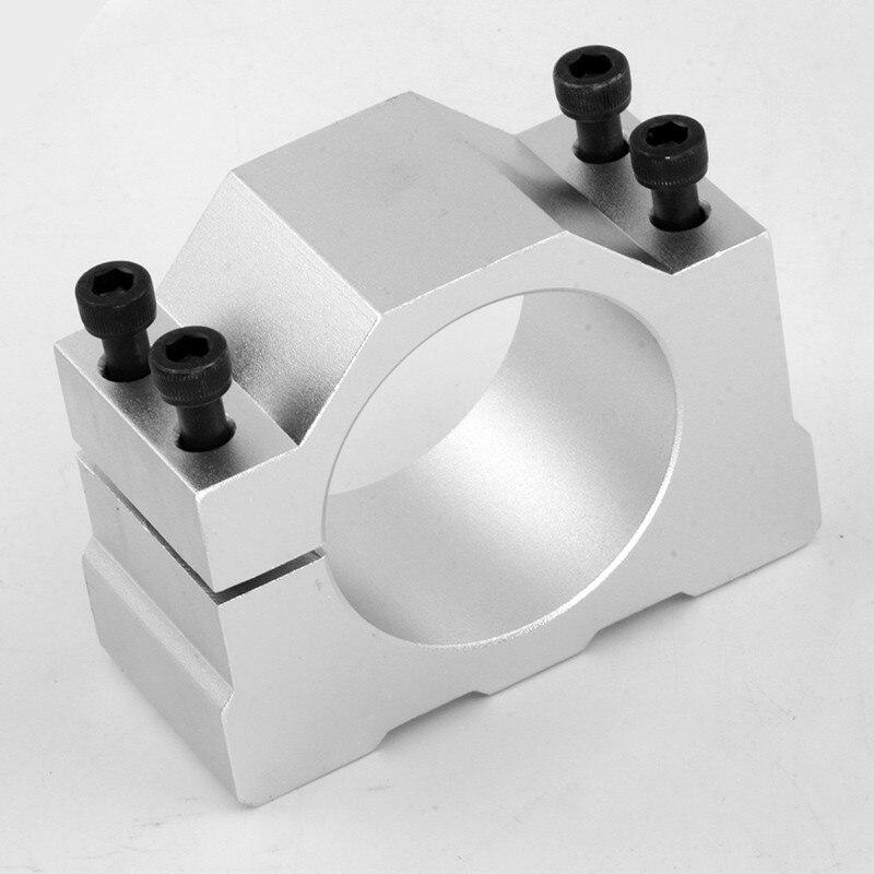 Nuevas abrazaderas para motor de husillo abrazadera de soporte de aluminio fundido de 52mm de diámetro para grabado CNC 400w 300w husillo 52mm abrazaderas de husillo