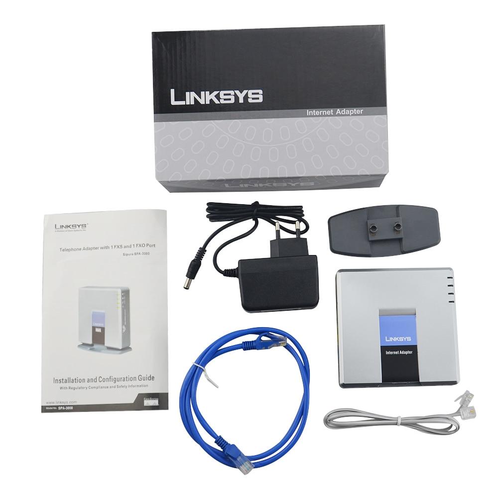 משלוח מהיר משלוח! הטוב ביותר סמארטפון LINKSYS SPA3000 ספא 3000 VOIP FXS gateway טלפון מתאם חדש לגמרי