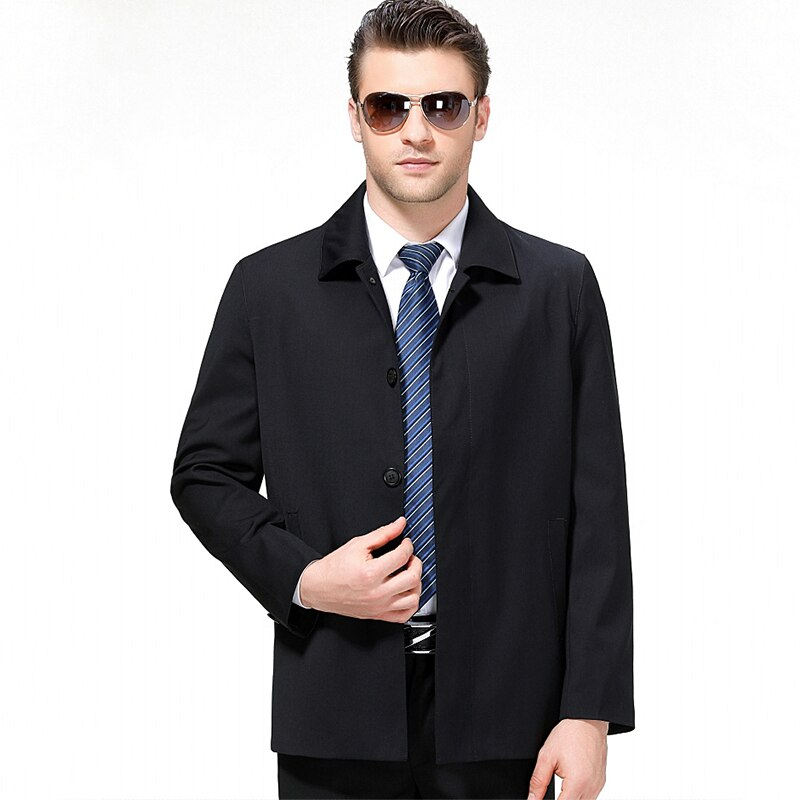 Nueva llegada de los hombres chaqueta de lana primavera otoño hombre de negocios casuales botón prendas de vestir abrigo cortaviento abrigo de talla grande M-3XL CF210