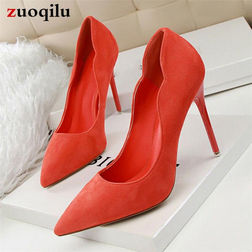 Zapatos de tacón alto de gamuza sintética para mujer, zapatos cómodos de boda para mujer, zapatos de tacón alto de 10CM, sandalias sexis para mujer