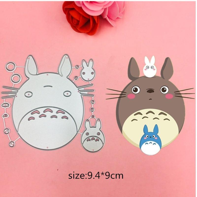 Nuevos y encantadores troqueles de corte de orejas de gato para álbum de recortes DIY/álbum de fotos decorativo en relieve tarjetas de papel DIY