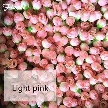 Floace-têtes de fleurs led bricolage pour mariage   100 pièces par lot, guirlande couronne bricolage, rose artificielle en soie pour mur de fond dhôtel
