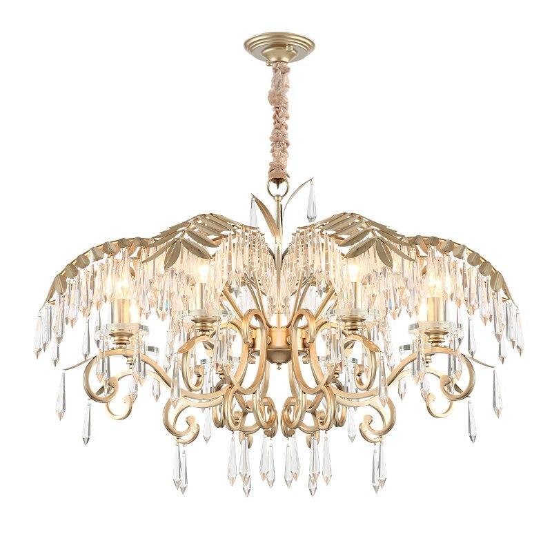 2019 Luxury Crystal Chandelier Living Room Lamp lustres de cristal indoor Lights Crystal Pendants For Chandeliers  - buy with discount