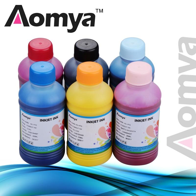 حبر أصباغ مخصص عالي الجودة ، 250 مللي × 8 ألوان ، لطابعة إبسون R800 R1800 ، 8 ألوان لكل مجموعة