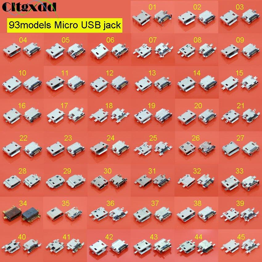 Cltgxdd 93 modelle Micro USB jack buchse stecker für Samsung Xiaomi Redmi Lenovo Huawei Moto ASUS Sony HP HTC ZTE OPPO Meizu etc