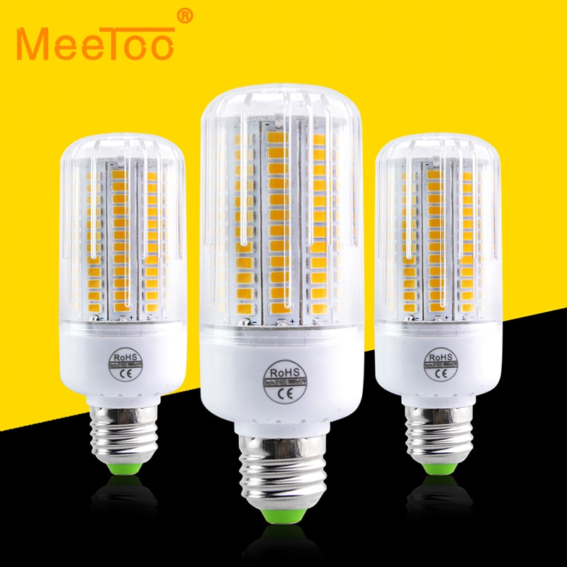 110V 220V Bombilla LED E27 reemplazar incandescentes 20W 60W 80W 100W 120W proyector 5730SMD 24 30 42 64 80 89 108 136 LEDs lámpara