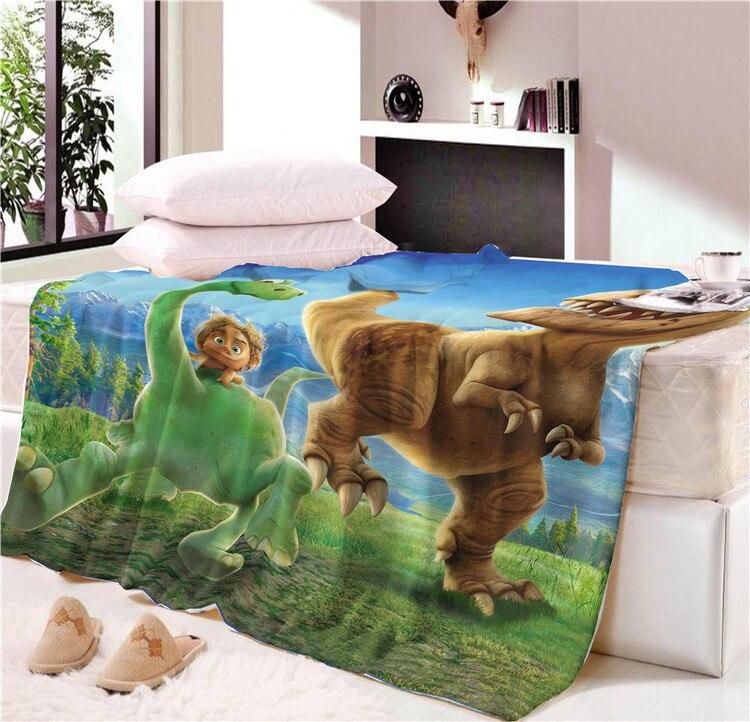 2019 Hot Sale Nap blanket  Super Soft  Cartoon dinosaur  Velvet Plush Throw Blanket  Art Blanket for Children Throw Travel CB70