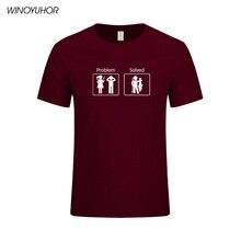 Мужская футболка с коротким рукавом Fishinger Solves Problems, летняя хлопковая Футболка с круглым вырезом