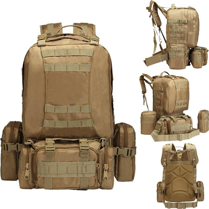 55L sports de plein air militaire tactique escalade alpinisme sac à dos Camping randonnée Trekking sac à dos voyage en plein air sac de chasse