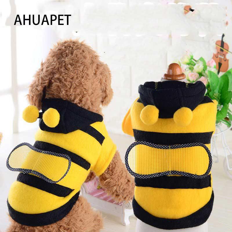 Atuendo para perros pequeños, ropa para Cosplay de Little Bee, cachorro de Pomerania, Corgi, traje de abeja, Sudadera con capucha, ropa bonita y elegante para cachorros