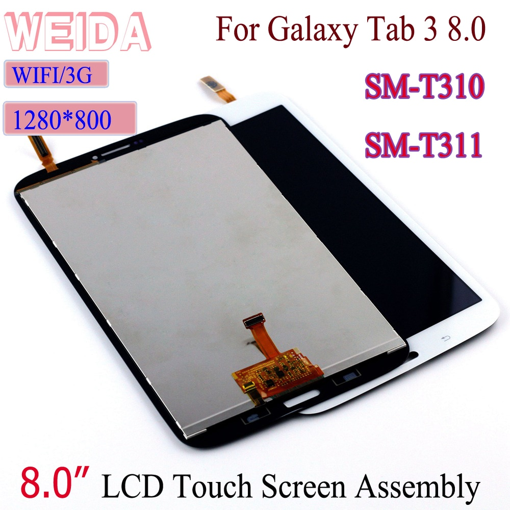 9h 2 5d tempered glass for samsung galaxy tab 3 t310 t311 8 screen protect clear cover for sm t310 sm t311 protector film 0 3mm WEIDA LCD Replacment 8 For Samsung Galaxy Tab 3 8.0 SM-T310 SM-T311 LCD Display Touch Screen Assembly T310 WIFI /T311 3G