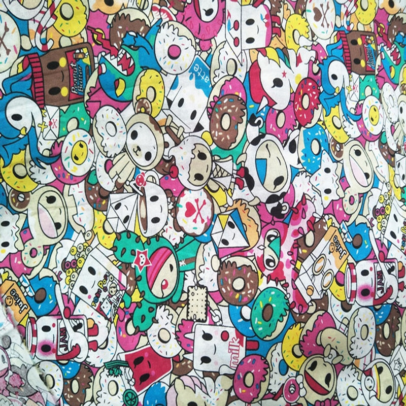 145cm de ancho hermosa tela de algodón 100% unicornio tokidok tela impresa costura patchwork para edredones Material Diy vestido de niños