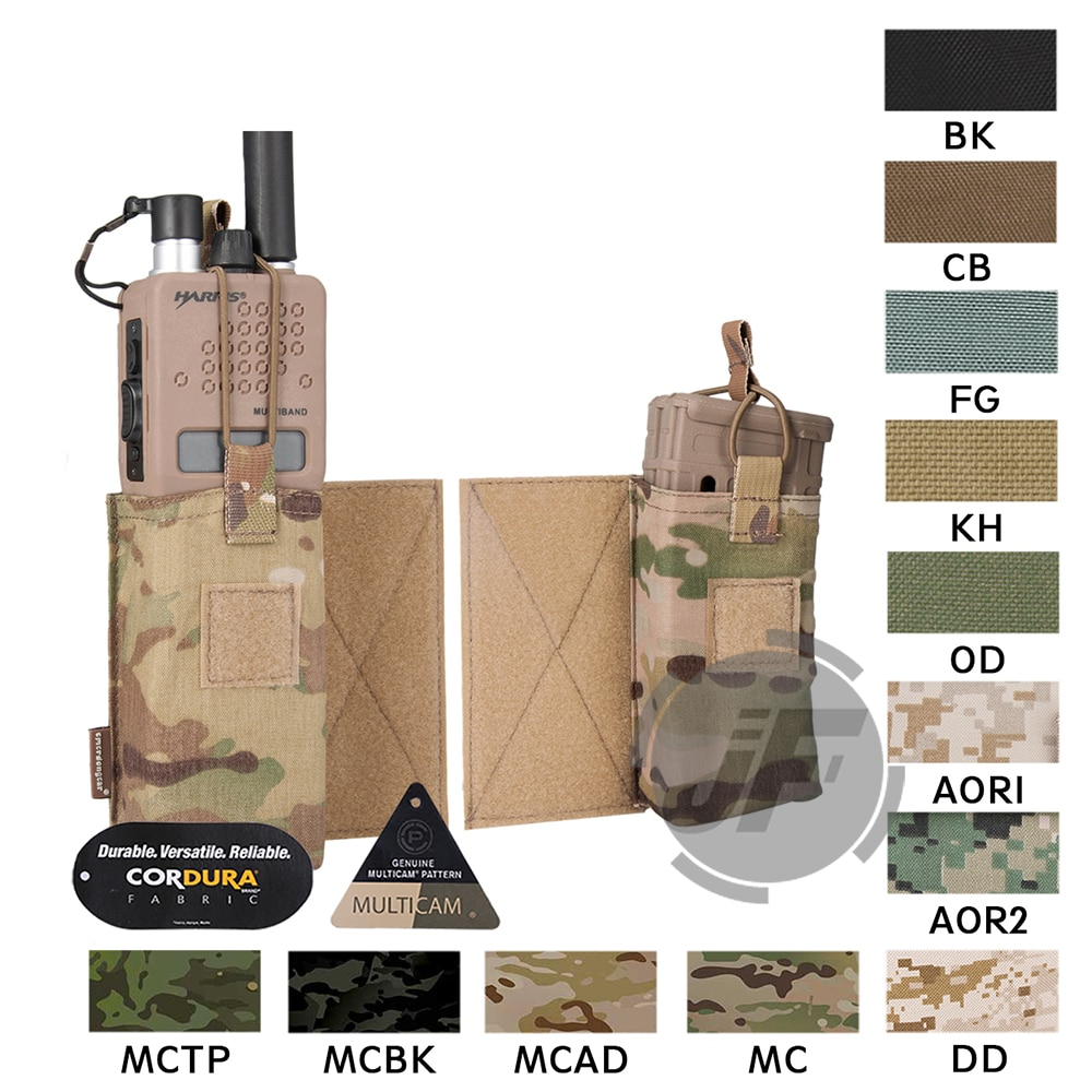 Emerson tático mbitr rádio acessório bolsa conjunto emersongear m4 compartimento bolsa mag portador walkie bolso gancho & loop
