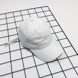YouGeMan Fashion Mens White Caps Korean Style Ulzzang Harajuku Solid Hip Hop Hole Baseball Cap For Women Summer Snapback Hat